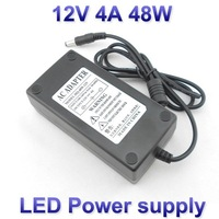 LED switching power supply adapter laptop VDE plug US plug 48W AC 100-240V to DC 12V 4A for led strips, free shipping