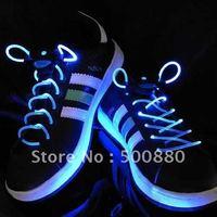 Wholesale - 2010 style colorful led flashing shoelace LED Flashing shoelace light up shoe laces Laser Shoelaces