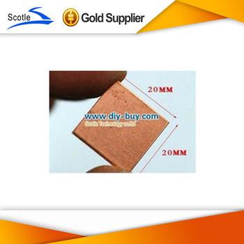 Freeshipping 5pcs/lot 20mm*20mm Copper Shim Thermal Conductive Heatsink Pad For  Notebook VGA GPU IC