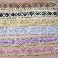 purple clothing Curtain Tablecloth DIY part  5cm x 12m lace wholesale/retail 7color  select