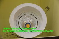 Professional! White 5000K COB 18W LED Downlight lamp Free Shipping