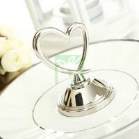 Silver Plated Placecard Holders With Heart Design (Set of 12) For Wedding Party Decoration Free Shipping