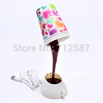 FREE SHIPPING DIY lampshade USB/BATTERY power source LED coffee night light, 8 LED table desk lamp for home decoration.#8729