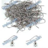 100Pcs18mm Surgical Steel Earring Hooks Ball Jewelry Findings Coil Earrings Wire AE00735