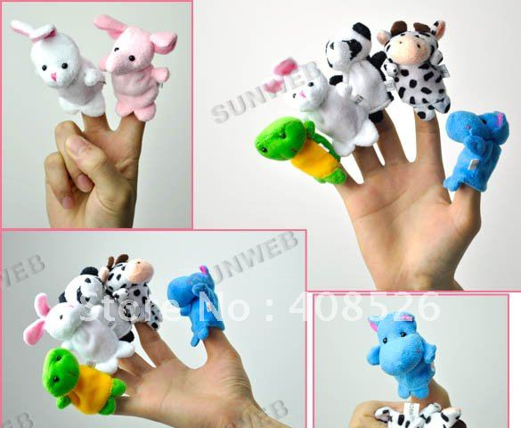 2012 Cartoon Animal Finger Puppet,Finger toy,finger doll,baby dolls Free Shipping 4532(China (Mainland))