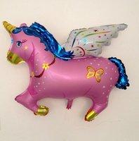 New! Pink Unicorn Catoon Foil Balloon 100cm*88cm Super Size 100% GOOD QUALITY