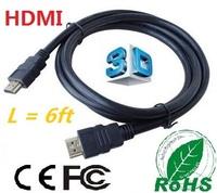 Free shipping 3.3ft 50pcs/lot 1M High quality  hdmi cable 1.3v Full HD 1080P