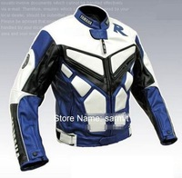 3060101 - 2013 New PU leather with Cow Leather Jacket Men Motorcycle Racing Jacket 3 Colors Free Shipping