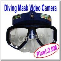 HOT sale 2.0M Waterproof Diving Mask Video Camera,Handsfree Sports Camera,Mini Camcorder,resolution 640*480,Free shipping