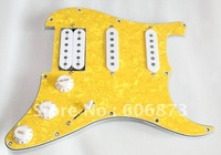 S-S-H Loaded Prewired Pickguard Fits Used For Stratocaster Guitar - Pearl Yellow