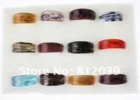 12pc Wholesale Mix Color European Vintage Style Fashion Handmade Gold Dust Lampwork Murano glass Rings Jewelry Free Shipping New