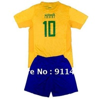 Big promotion for Kids/Children 2012 youth Great looking brazil argentina spain AC Football Soccer Jersey kits shirts and shorts