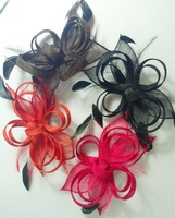1 piece retail low price promotion fashion sinamay  fascinator hair comb,cocktail designs  fasicnator  free shipping