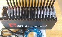 multi-socket gsm gprs modem q24plus 16 ports AT command