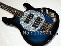 Wholesale - new blue 4 strings bass electric bass guitar MUSIC MAN free shipping  new arrival