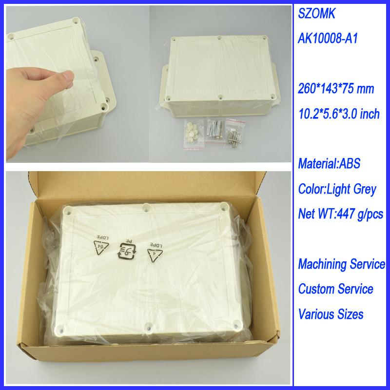 1 piece 260*143*75MM 10.2*5.6*3mm plastic enclosure waterproof(China (Mainland))
