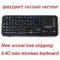 Russian version iPazzPort Mini Handheld 2.4G Wireless Keyboard + Laser Light Pen for Google TV ,Retail Box +Free Shipping !