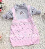1set baby girls princess dress Fashion bowknot child dress (for 3~5 years)
