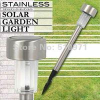 1 Bright LED Solar Lawn Light Stainless steel material 5 Colors for option100 % solar powered garden lamp flood light ,5pcs/lot