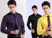 NEW  men  Business dress slim fit  shirt  long sleeve   shirts 10 color  XS S M  L XL XXL XXXL