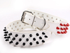Free shipping New arrival Colorful Spikes studded Genuine leather Dog Pet  collar  from stock