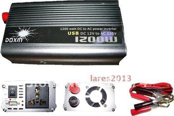 NEW 12v DC to AC 220v AC 1200W Mobile Car Power Inverter USB + Free shipping