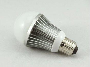 DIY 5*1W LED Bulb Light housing E26,E27,B22/with extrusion aluminium heatsink, ABS lamp base, PC / glass covering