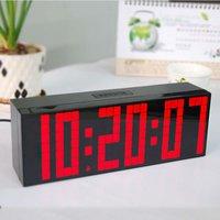 Digital Large Big Jumbo LED snooze wall desk alarm with calendar travel clock