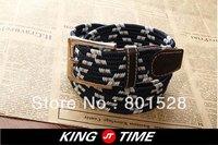 KINGTIME Free Shipping Hot Sell Lozenge Grain Belt Fashionable Casual Men's Belt  DPD243