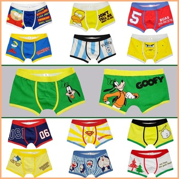 Free shipping!! 2014 Fashion men' underwear/ New   arrival men's sexy boxers/Cartoon Men Underwear Mix   order Size L XL