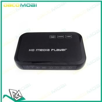 Wholesale USB High Definition Full HD 1080P HDD Media Player HDMI VGA MKV H.264 SD 30Pcs/Lot DHL Free Shipping