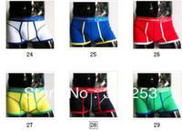 Calzoncillos Ropa interior Cuecas   4pcs/ lot High quality sexy trunk mens boxer shorts men's underwear Cotton