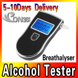 Police Digital Breath Alcohol Tester LCD Blow Breathalyzer Analyzer Analyser New