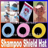 2014 New Baby Child Kid Shampoo Bath Shower Wash Hair Shield Hat Cap Yellow / Pink / Blue,5pcs/lot, freeshipping, dropshipping