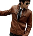 2013 fashion Classic Men&#39;s PU Leather Coat jacket 2 Colors 4 Sizes Black,Brown M,LXL, XXLfree shopping Q396