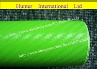 Hot Selling Size 1.27*30m Apple Green 3D Carbon Fiber Car  Roll  Without Air Free Bubble   Free Shipping 127cfvwi30m