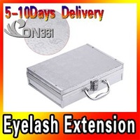 Big Discount ! Professional False Eye Lash Eyelash Extension Full Kit Set With Case