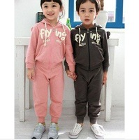 Baby boys girls sports clothing sets/ children clothes sets  with flying  angel wings back suit overcoat 5sets/lot  wholesale