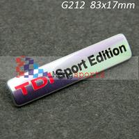 70pcs TDI Sport Edition Badge Emblem Decal 3D Badge Emblem Sticker 83x17mm