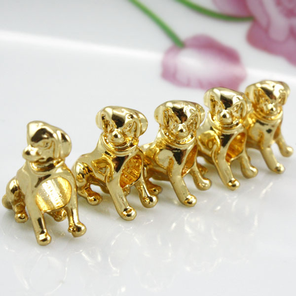 100pcs/lot Fashion silver charm fits all jewelry Dog chram 15mm*12mm PA5024 free shipping(China (Mainland))
