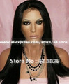 16&quot; #1B, Virgin Brazilian Hair,Silky Straight,Front Lace Wig