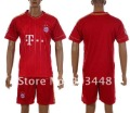 New Arrival 12 13 FC Bayern Munich home red soccer jerseys Brand Logo football uniforms Desinger soccer t shirts Free Shipping(China (Mainland))