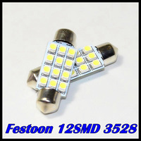 Free shipping 10pcs/lot 31mm 36 mm 39mm 41mm 12 SMD 3528/1210 LED Car Dome light Festoon Interior Indicator Light Bulb Lamp 12V