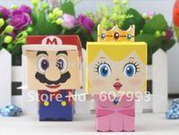 Super mario cartoon wedding party  candy favor  box,  gift packaging chocolate bag ,100pairs= 200PCS/lot, Express free shipping