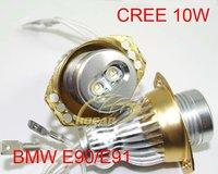 CREE 10W  Xenon White LED Marker Angel Eyes Kit for BMW E90 Saloon/E91 Touring No CANBUS Error