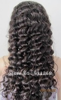 "Free Shipping! 20"",#2,Deep Wave,Indian Human Hair,Full Lace Wig, 8""-24"" Medium,Small,Large Size In Stock"