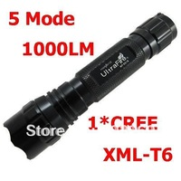 2013 Hotsale!!!!501B CREE XM-L U3 U2 T6 LED Flashlight  5 Mode 1000 LM Waterproof Flashlight by 1* 18650 + Mail Free Shipping