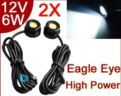 6W Eagle Eye LED White High Power Car Tail Back Up Reverse Light Lamp Bulb(China (Mainland))