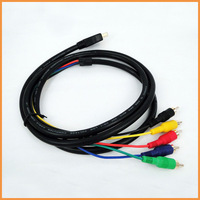 Free shipping 1.5M HDMI To 5RCA Component Video Audio AV Cable Cord
