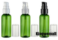 300pcs/lot Free Shipping 50ML Bottle,Plastic Container,Green Cosmetic Bottle For Lotion Cream,Cream Jars LW-B-50